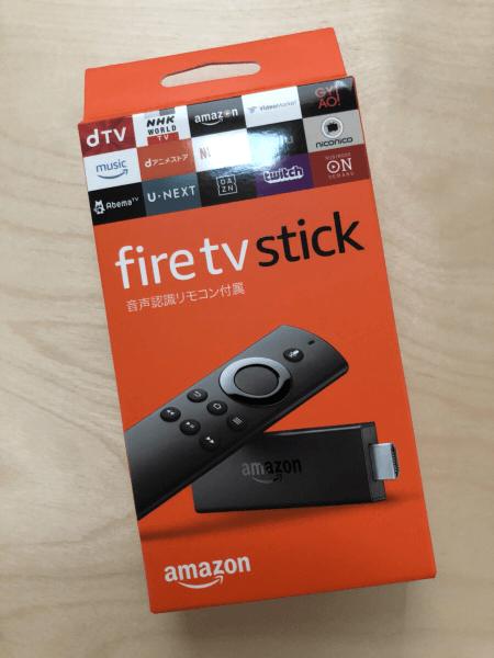 fire TV stickの外箱