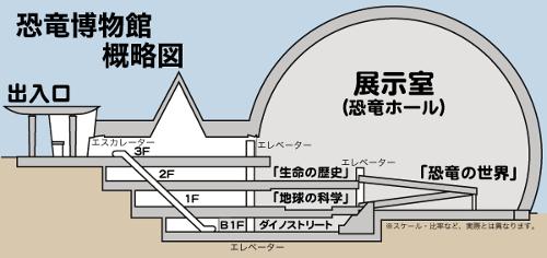 福井県立恐竜博物館構造