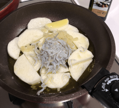 アヒージョの調理