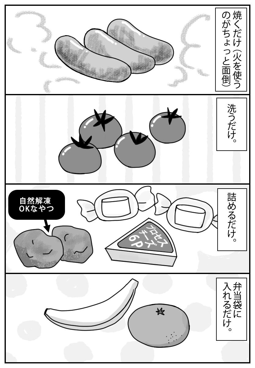 手抜き弁当のスタメン
