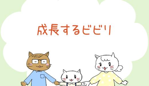 【4コマ漫画】第43話 成長するビビリ(#一人っ子男子を育てています)