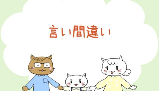 【4コマ漫画】第40話 言い間違い(#一人っ子男子を育てています)