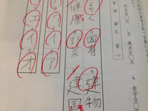 漢字の採点基準