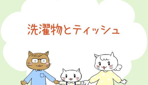 【4コマ漫画】第58話 洗濯物とティッシュ(#一人っ子男子を育てています)