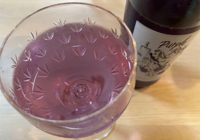 紫ワインの味